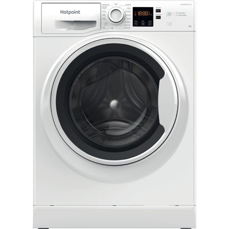 Hotpoint-Washing-machine-Free-standing-NSWA-843C-WW-UK-N-White-Front-loader-D-Frontal