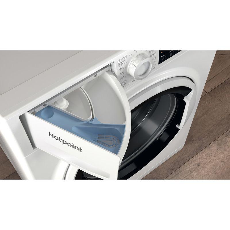 Hotpoint-Washing-machine-Free-standing-NSWA-843C-WW-UK-N-White-Front-loader-D-Drawer