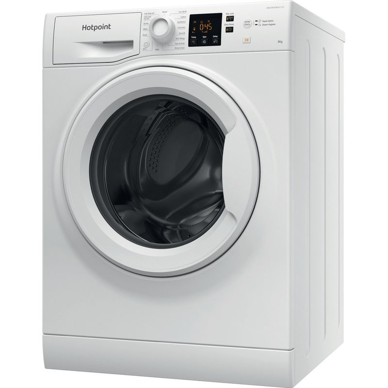Hotpoint-Washing-machine-Free-standing-NSWM-863C-W-UK-N-White-Front-loader-D-Perspective