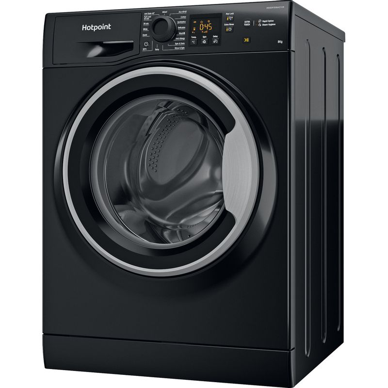 Hotpoint-Washing-machine-Free-standing-NSWM-843C-BS-UK-N-Black-Front-loader-D-Perspective