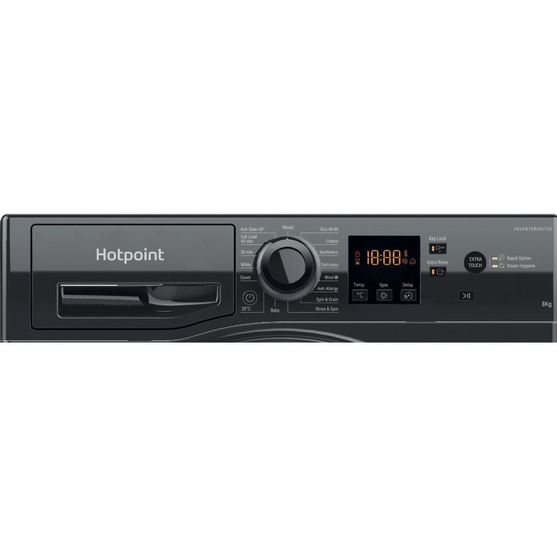 Hotpoint-Washing-machine-Free-standing-NSWM-843C-BS-UK-N-Black-Front-loader-D-Control-panel