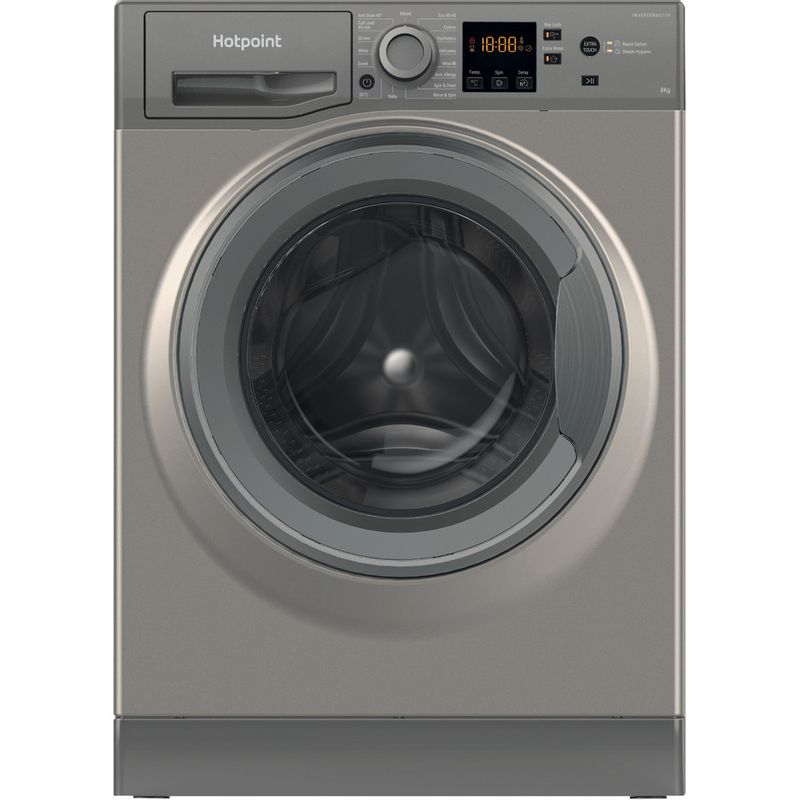 Hotpoint-Washing-machine-Free-standing-NSWM-843C-GG-UK-N-Graphite-Front-loader-D-Frontal