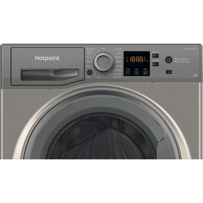 Hotpoint-Washing-machine-Free-standing-NSWM-843C-GG-UK-N-Graphite-Front-loader-D-Control-panel