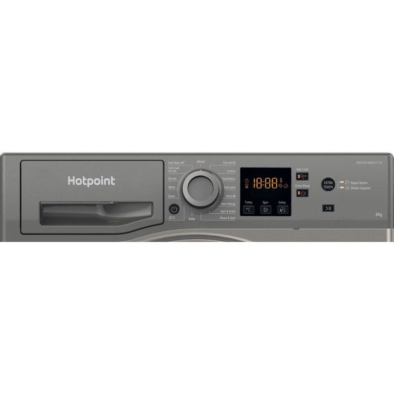 Hotpoint-Washing-machine-Free-standing-NSWM-863C-GG-UK-N-Graphite-Front-loader-D-Control-panel