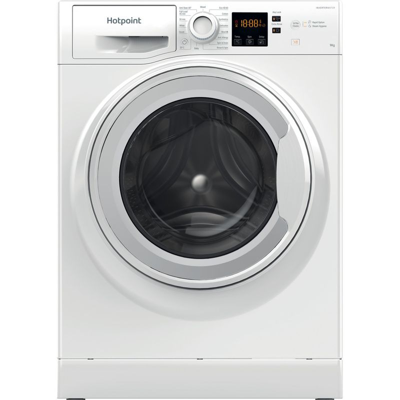 Hotpoint-Washing-machine-Free-standing-NSWF-943C-W-UK-N-White-Front-loader-D-Frontal
