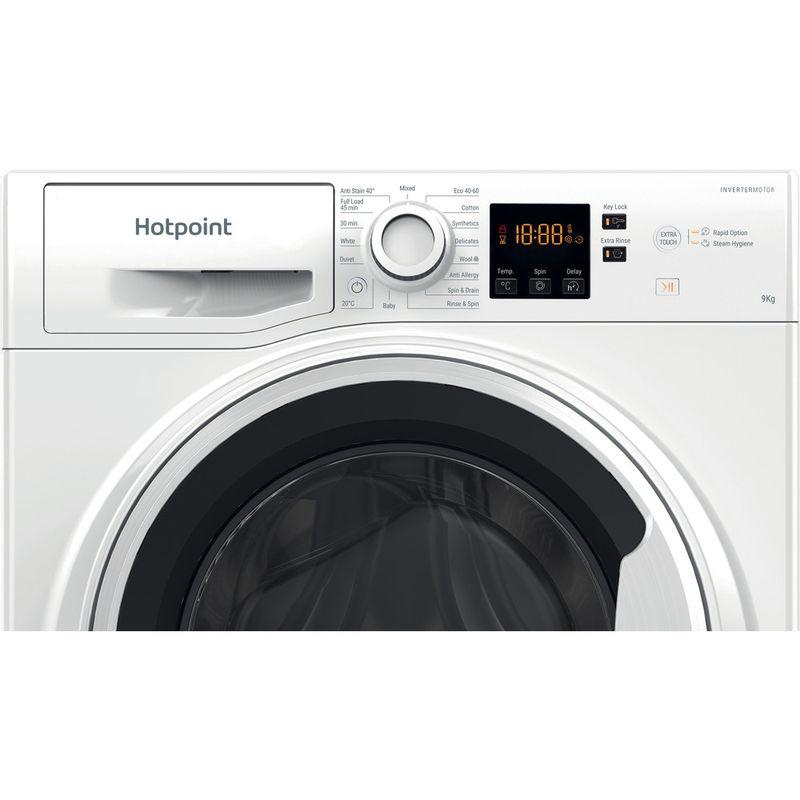 Hotpoint-Washing-machine-Free-standing-NSWA-943C-WW-UK-N-White-Front-loader-D-Control-panel