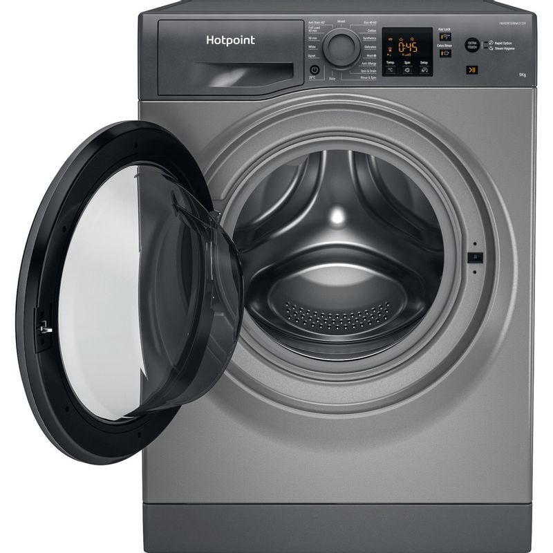 Hotpoint-Washing-machine-Free-standing-NSWF-943C-GG-UK-N-Graphite-Front-loader-D-Frontal-open