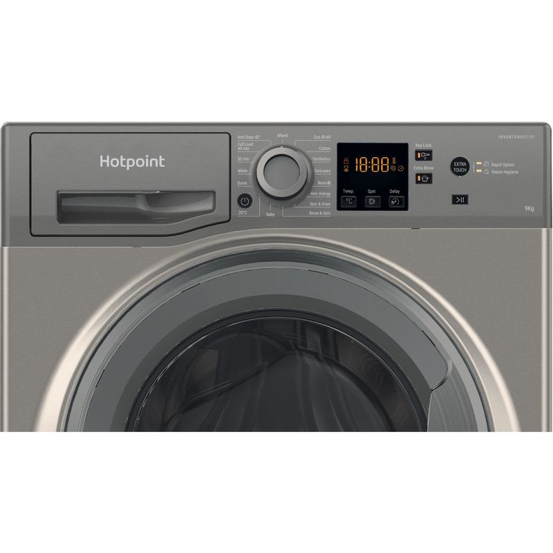 Hotpoint-Washing-machine-Free-standing-NSWF-943C-GG-UK-N-Graphite-Front-loader-D-Control-panel
