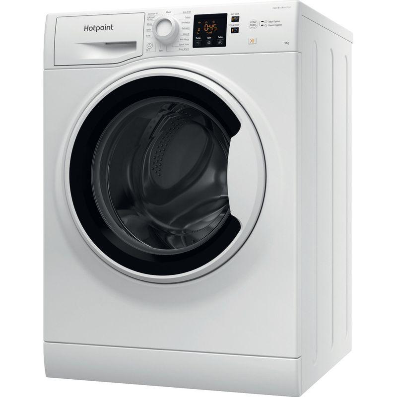 Hotpoint-Washing-machine-Free-standing-NSWA-963C-WW-UK-N-White-Front-loader-D-Perspective