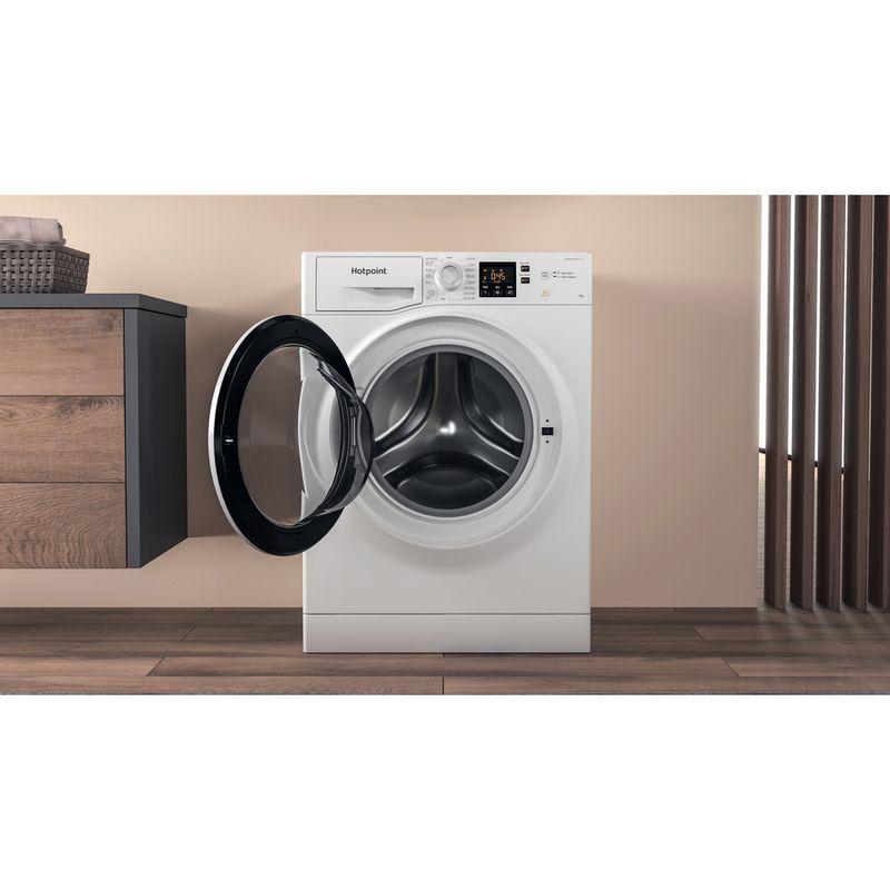 Hotpoint-Washing-machine-Free-standing-NSWA-963C-WW-UK-N-White-Front-loader-D-Lifestyle-frontal-open
