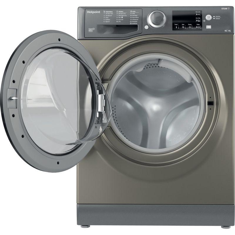Hotpoint-Washer-dryer-Free-standing-RDG-8643-GK-UK-N-Graphite-Front-loader-Frontal-open