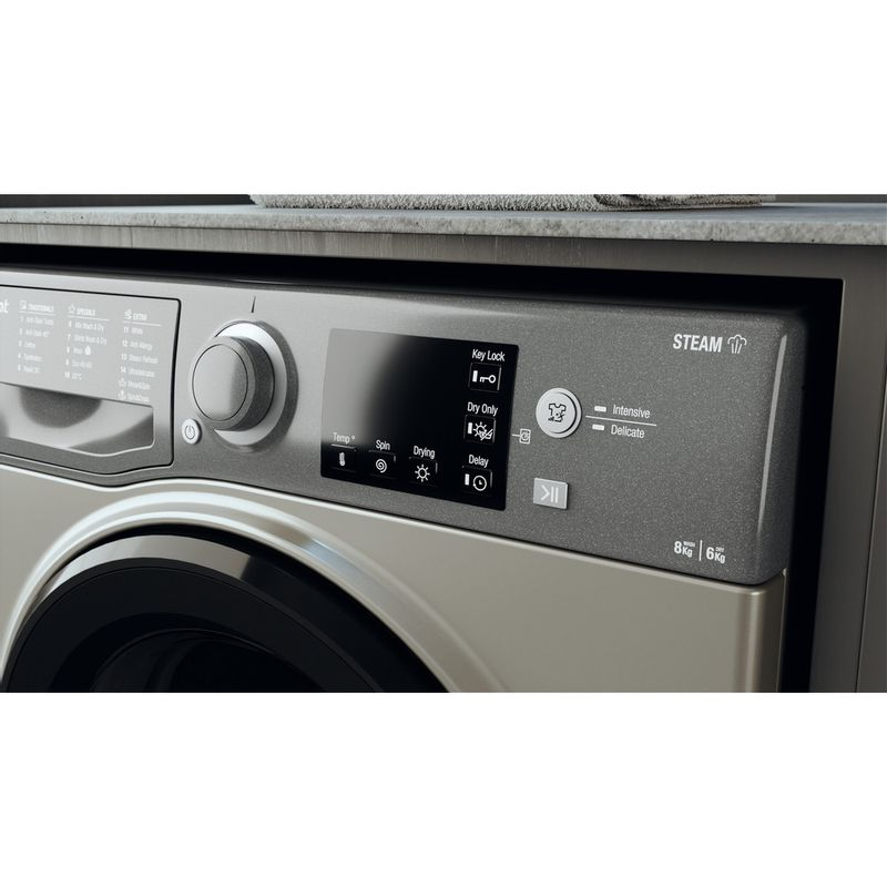 Hotpoint-Washer-dryer-Free-standing-RDG-8643-GK-UK-N-Graphite-Front-loader-Lifestyle-control-panel