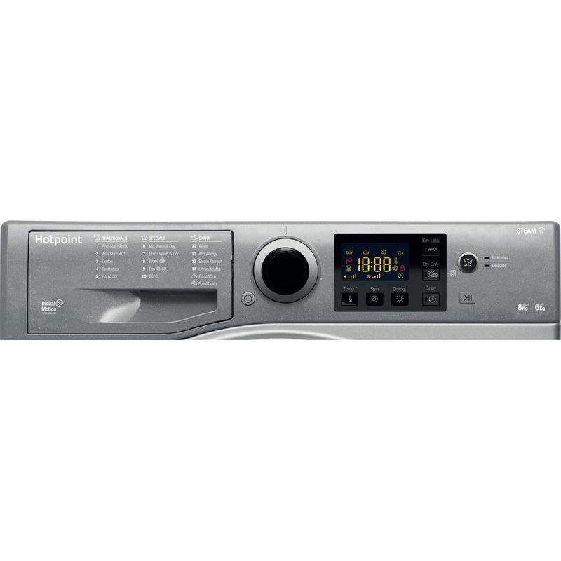 Hotpoint-Washer-dryer-Free-standing-RDG-8643-GK-UK-N-Graphite-Front-loader-Control-panel