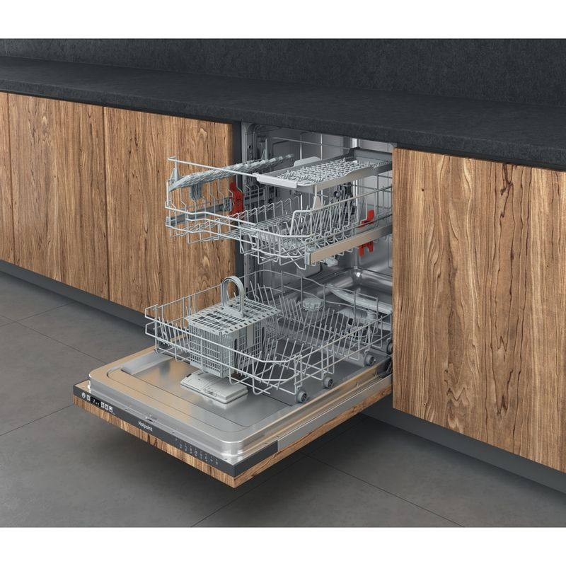Hotpoint-Dishwasher-Built-in-HIC-3B19-C-UK-Full-integrated-F-Perspective-open
