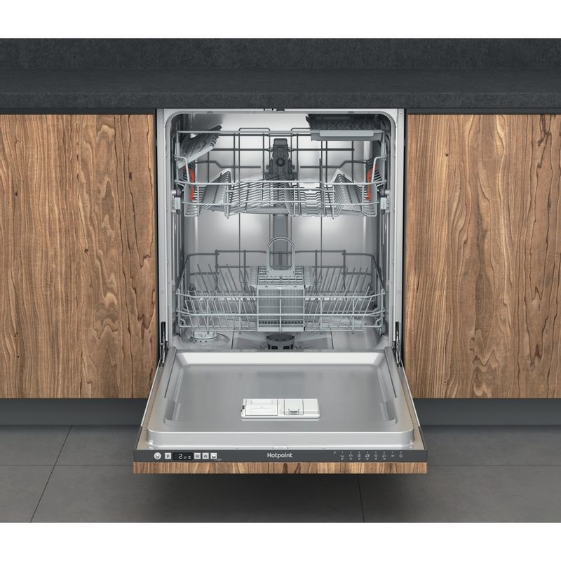 Hotpoint-Dishwasher-Built-in-HIC-3B19-C-UK-Full-integrated-F-Frontal-open