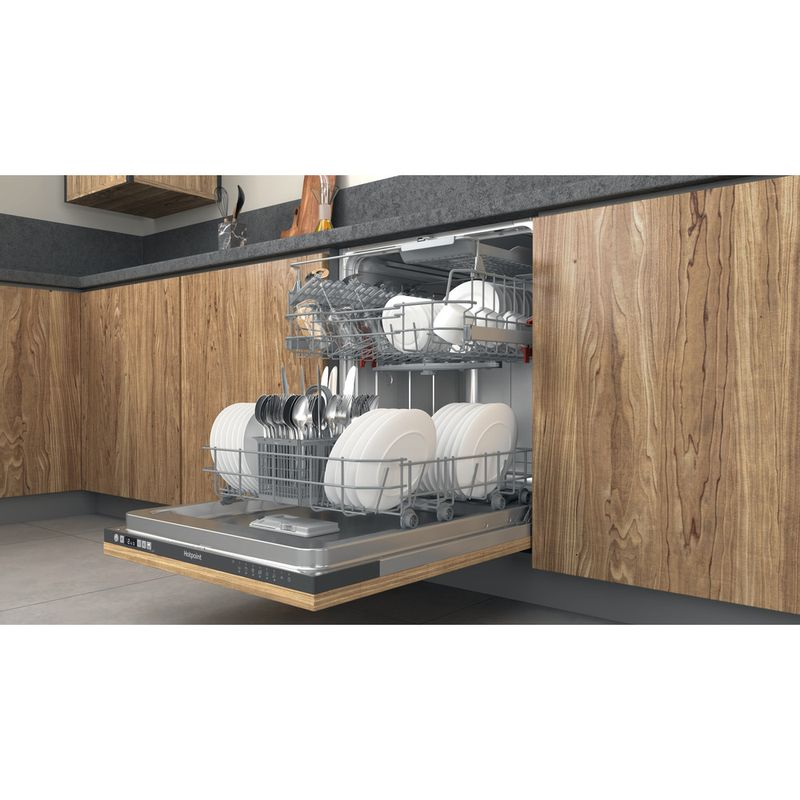 Hotpoint-Dishwasher-Built-in-HIC-3B19-C-UK-Full-integrated-F-Lifestyle-perspective-open