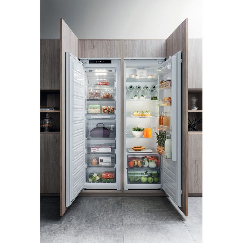 Hotpoint-Refrigerator-Built-in-HS-18011-UK-White-Lifestyle-frontal-open
