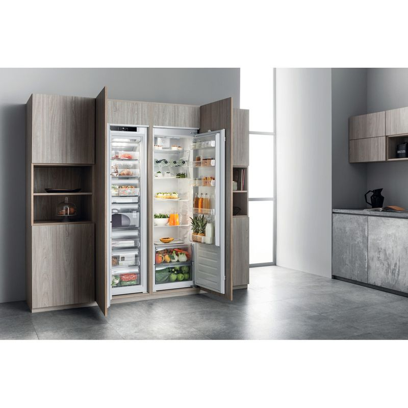 Hotpoint-Refrigerator-Built-in-HS-18011-UK-White-Lifestyle-perspective-open