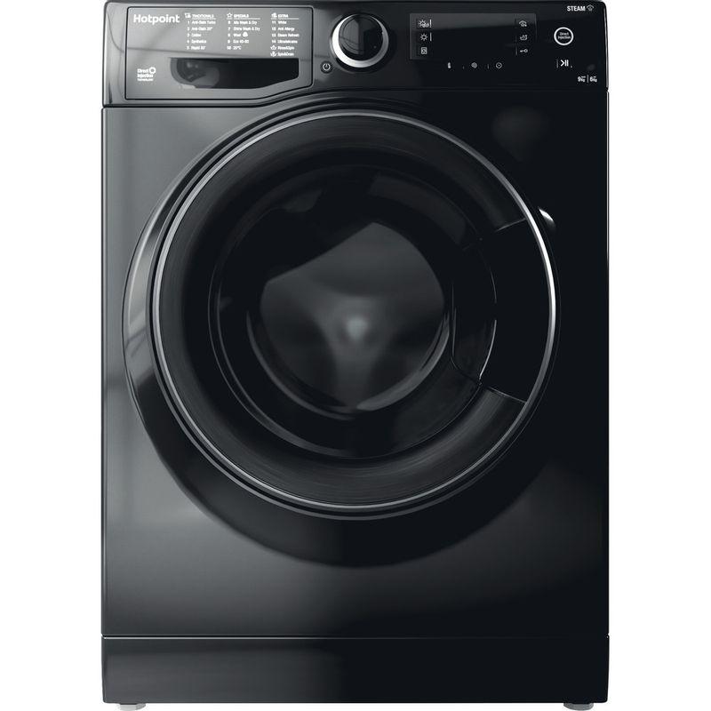 Hotpoint-Washer-dryer-Free-standing-RD-966-JKD-UK-N-Black-Front-loader-Frontal