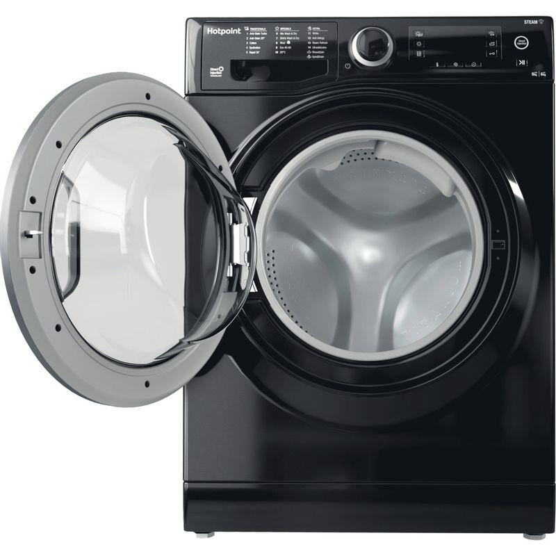 Hotpoint-Washer-dryer-Free-standing-RD-966-JKD-UK-N-Black-Front-loader-Frontal-open
