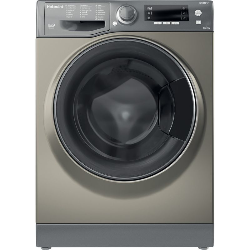 Hotpoint-Washer-dryer-Free-standing-RD-966-JGD-UK-N-Graphite-Front-loader-Frontal
