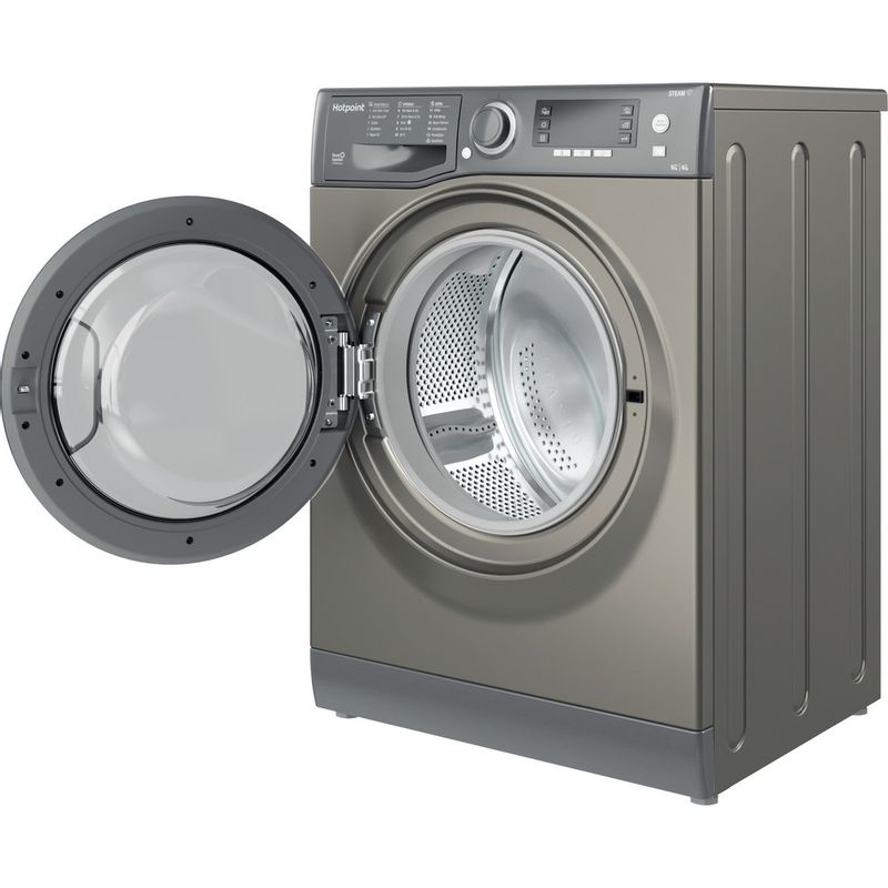 Hotpoint-Washer-dryer-Free-standing-RD-966-JGD-UK-N-Graphite-Front-loader-Perspective-open