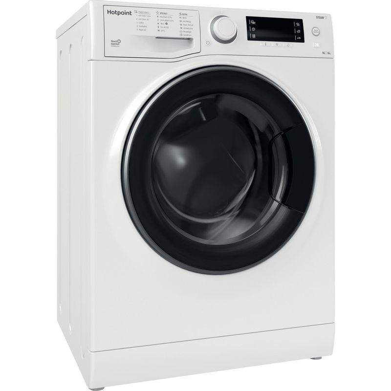 Hotpoint-Washer-dryer-Free-standing-RD-966-JD-UK-N-White-Front-loader-Perspective