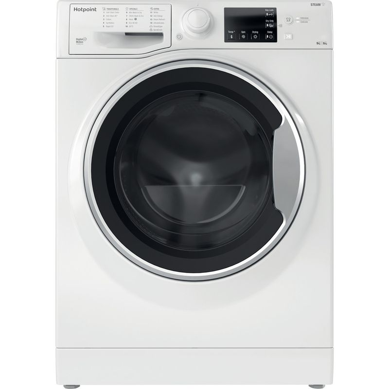 Hotpoint-Washer-dryer-Free-standing-RDGR-9662-WS-UK-N-White-Front-loader-Frontal