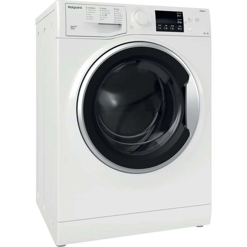 Hotpoint-Washer-dryer-Free-standing-RDGR-9662-WS-UK-N-White-Front-loader-Perspective
