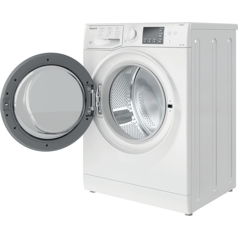 Hotpoint-Washer-dryer-Free-standing-RDGR-9662-WS-UK-N-White-Front-loader-Perspective-open