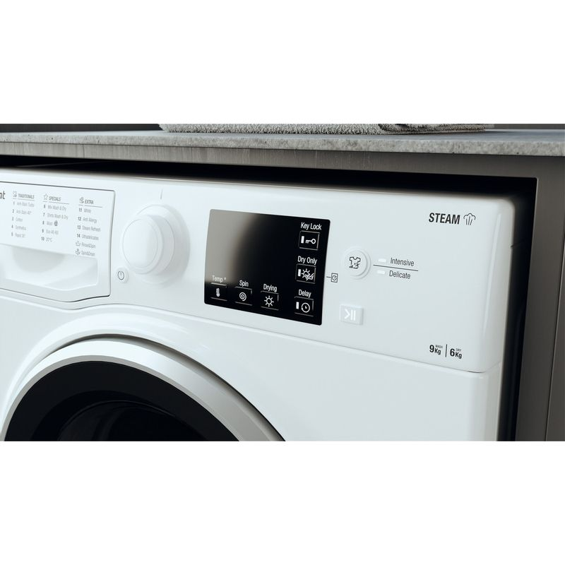Hotpoint-Washer-dryer-Free-standing-RDGR-9662-WS-UK-N-White-Front-loader-Lifestyle-control-panel