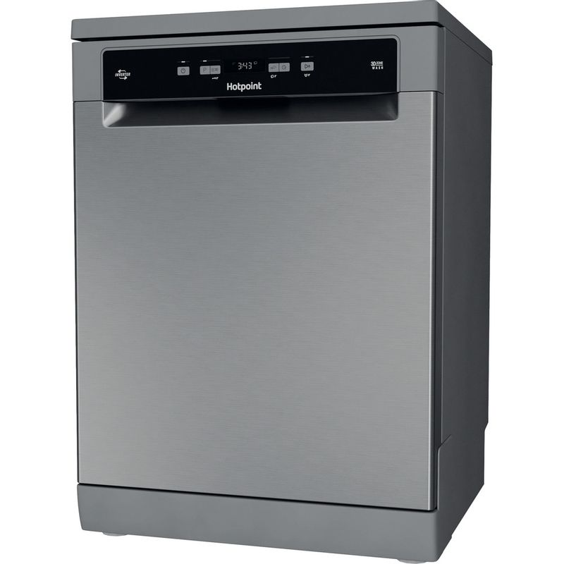 Hotpoint-Dishwasher-Free-standing-HFC-3C26-WC-X-UK-Free-standing-E-Perspective