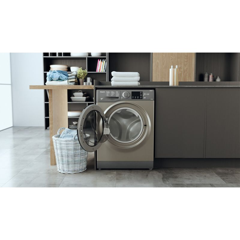 Hotpoint-Washer-dryer-Free-standing-RDGR-9662-GK-UK-N-Graphite-Front-loader-Lifestyle-frontal-open