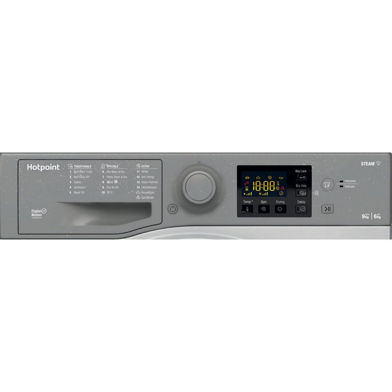 Hotpoint-Washer-dryer-Free-standing-RDGR-9662-GK-UK-N-Graphite-Front-loader-Control-panel