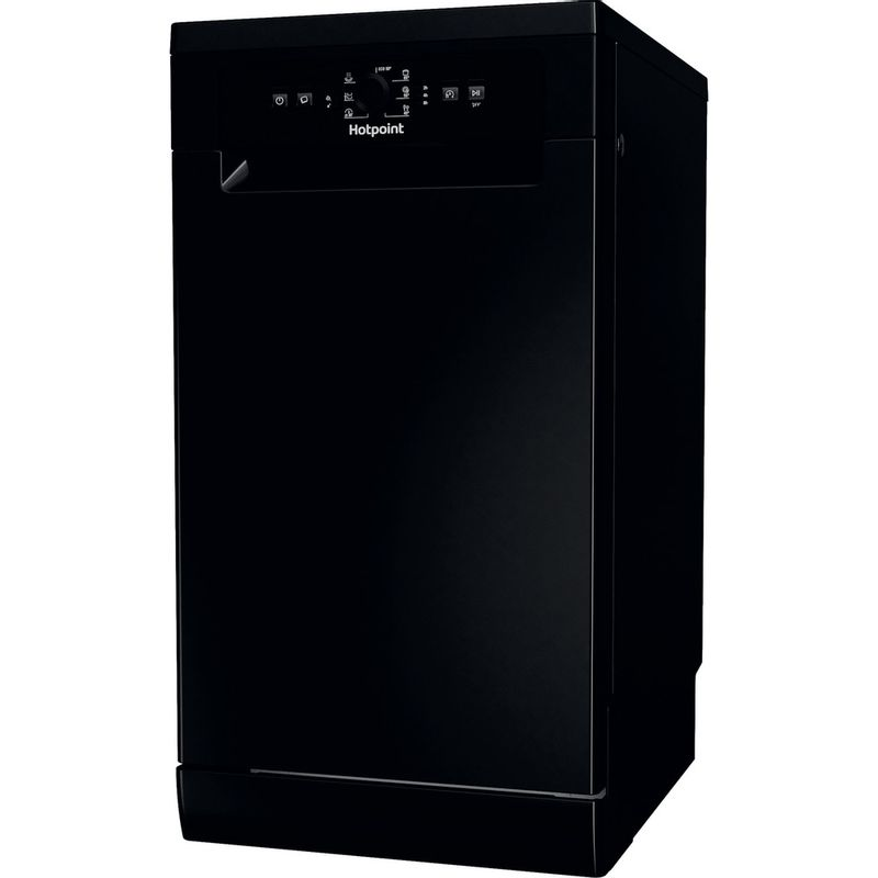 Hotpoint-Dishwasher-Free-standing-HSFE-1B19-B-UK-N-Free-standing-F-Perspective