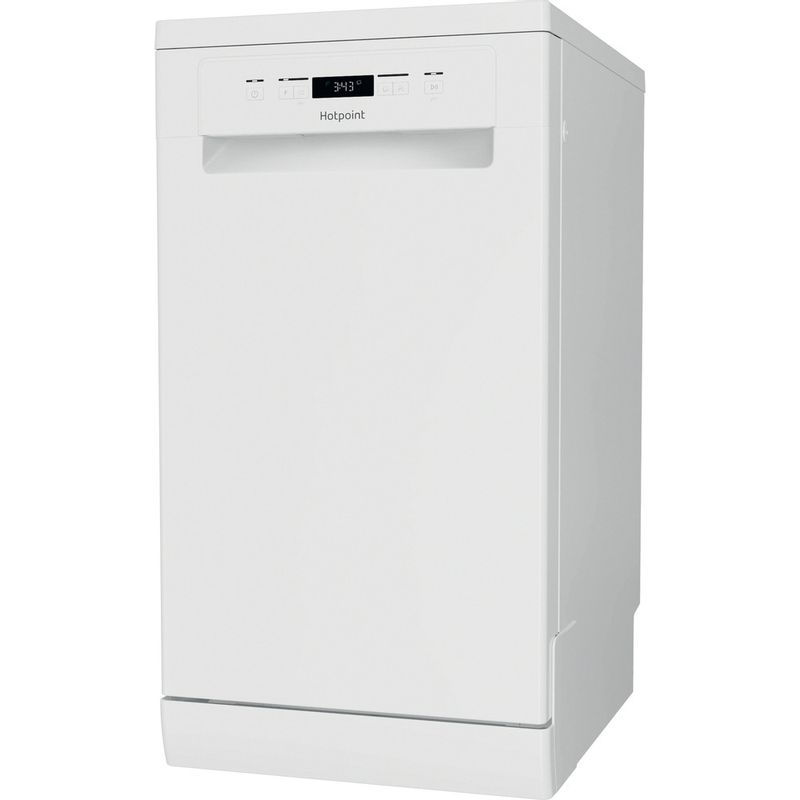 Hotpoint-Dishwasher-Free-standing-HSFC-3M19-C-UK-N-Free-standing-F-Perspective
