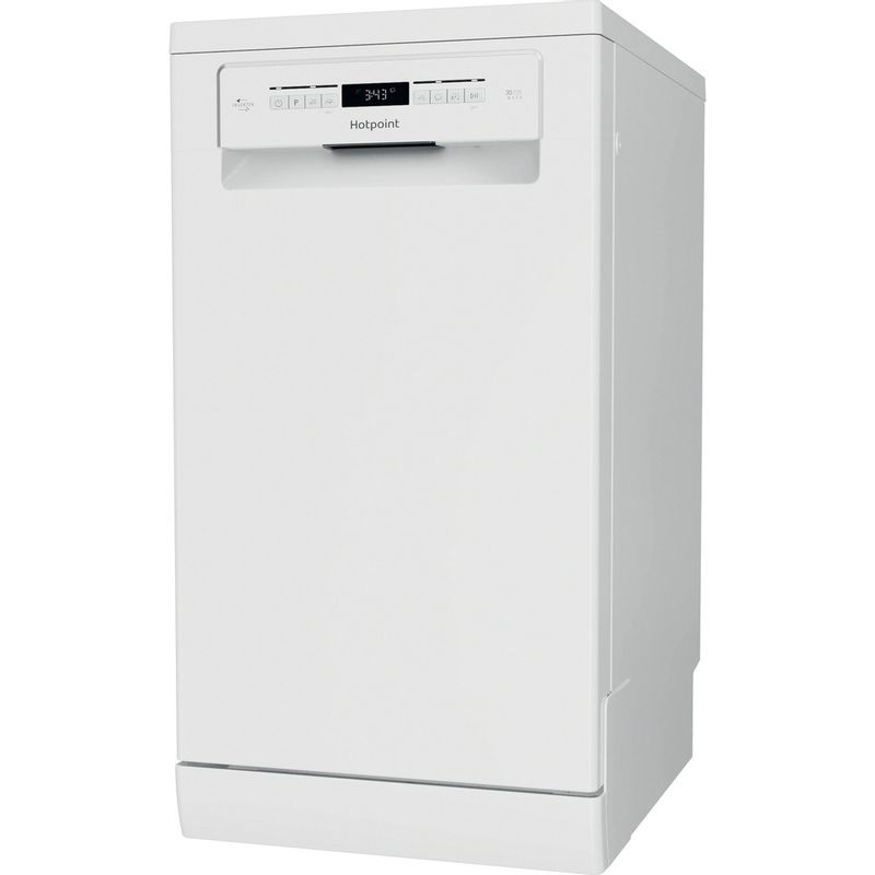Hotpoint-Dishwasher-Free-standing-HSFO-3T223-W-UK-N-Free-standing-E-Perspective