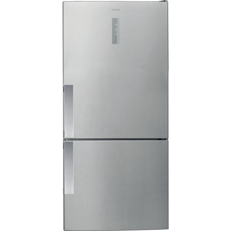 Hotpoint-Fridge-Freezer-Free-standing-H84BE-72-XO3-UK-2-Inox-2-doors-Frontal