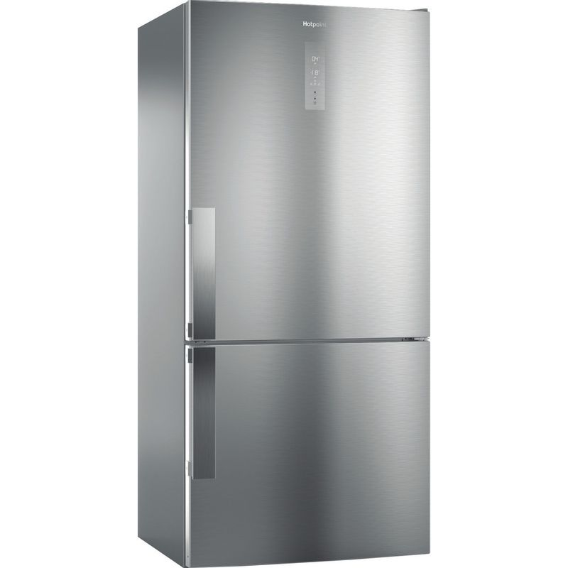Hotpoint-Fridge-Freezer-Free-standing-H84BE-72-XO3-UK-2-Inox-2-doors-Perspective