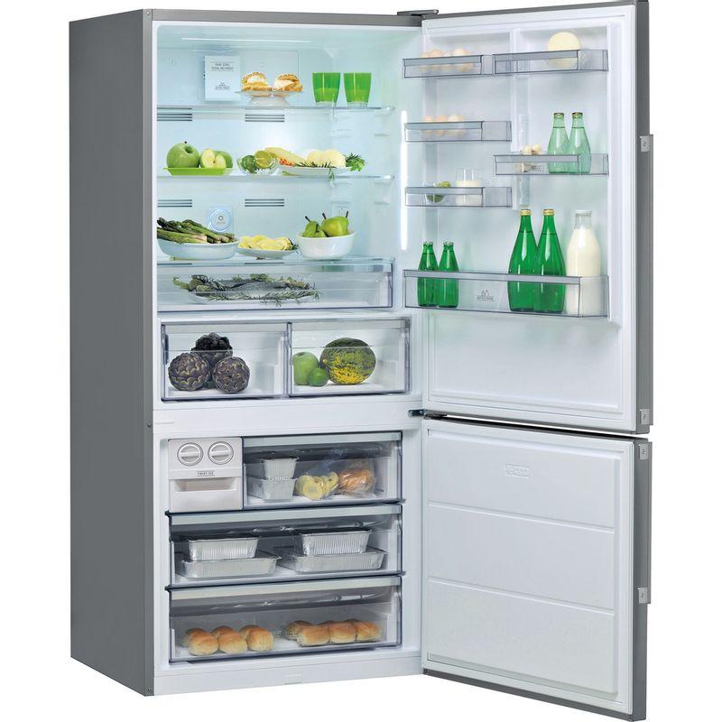 Hotpoint-Fridge-Freezer-Free-standing-H84BE-72-XO3-UK-2-Inox-2-doors-Perspective-open