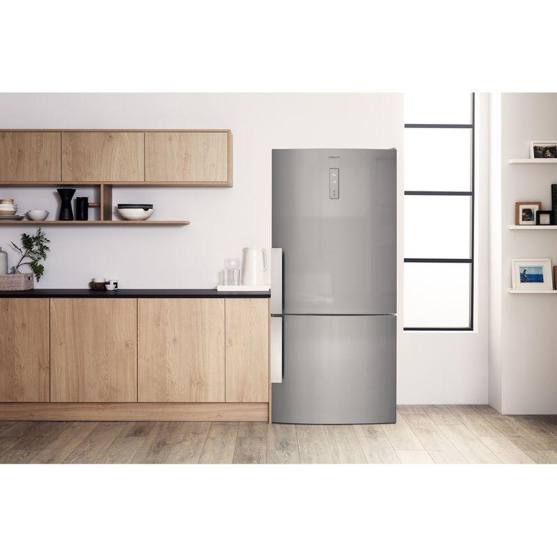 Hotpoint-Fridge-Freezer-Free-standing-H84BE-72-XO3-UK-2-Inox-2-doors-Lifestyle-frontal