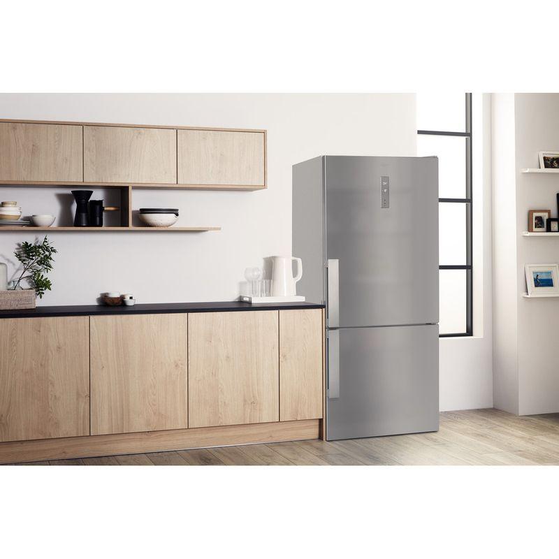 Hotpoint-Fridge-Freezer-Free-standing-H84BE-72-XO3-UK-2-Inox-2-doors-Lifestyle-perspective