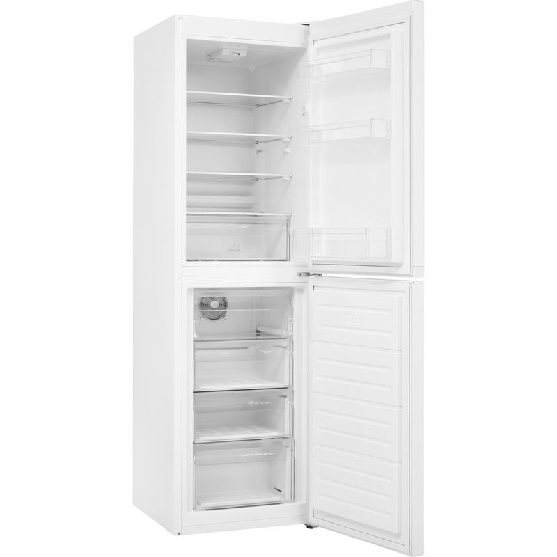Hotpoint-Fridge-Freezer-Free-standing-HBNF-55181-W-UK-1-White-2-doors-Perspective-open