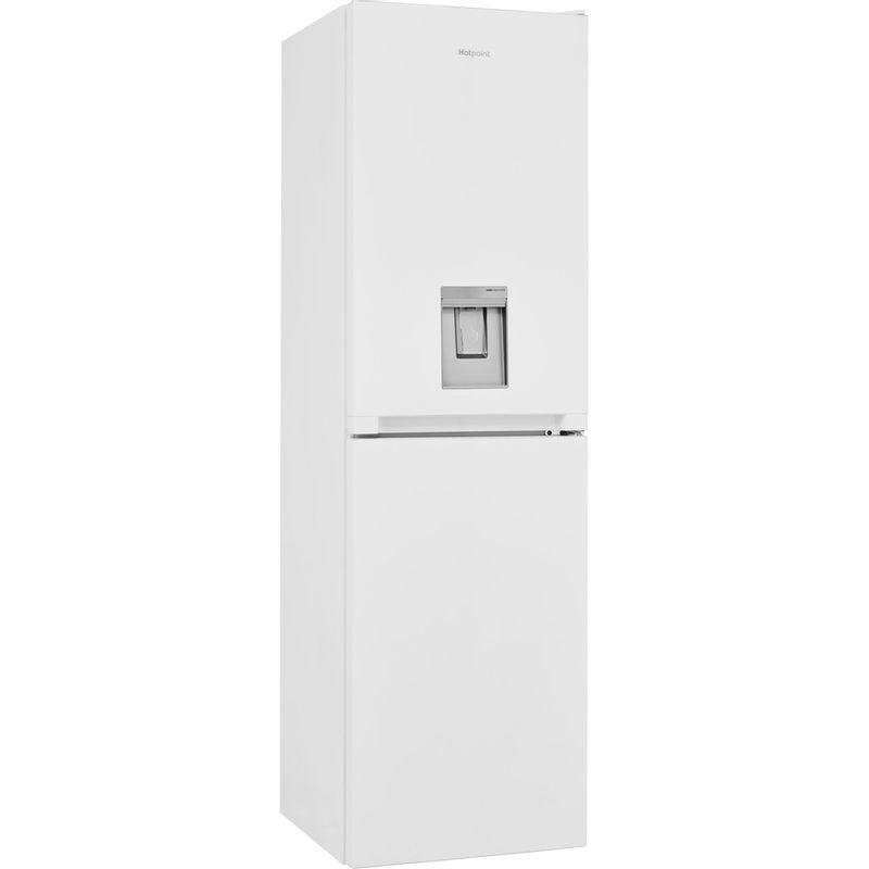 Hotpoint-Fridge-Freezer-Free-standing-HBNF-55181-W-AQUA-UK-1-White-2-doors-Perspective