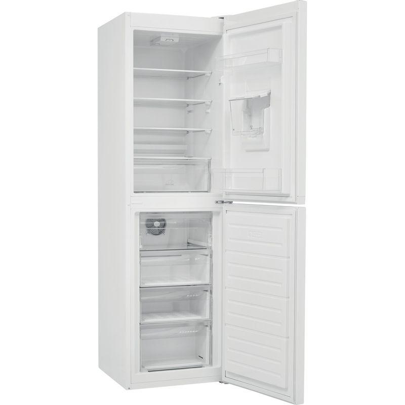 Hotpoint-Fridge-Freezer-Free-standing-HBNF-55181-W-AQUA-UK-1-White-2-doors-Perspective-open
