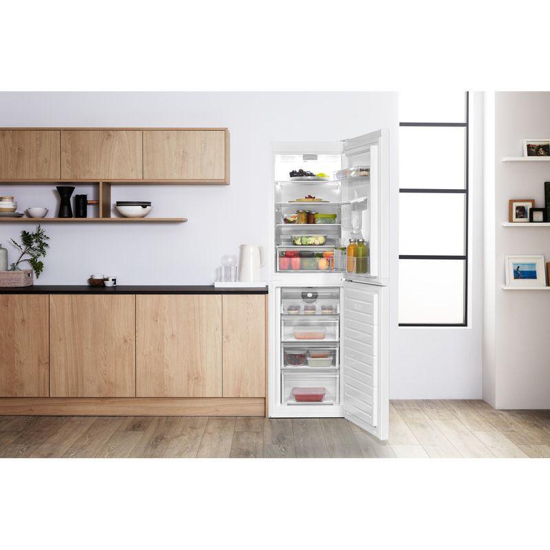 Hotpoint-Fridge-Freezer-Free-standing-HBNF-55181-W-AQUA-UK-1-White-2-doors-Lifestyle-frontal-open