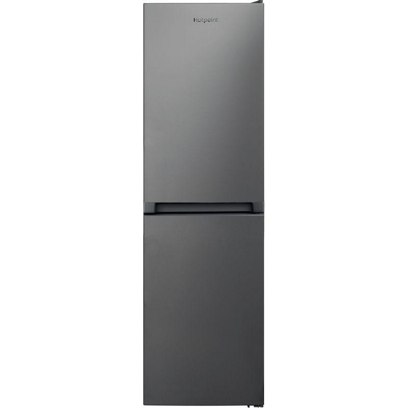Hotpoint-Fridge-Freezer-Free-standing-HBNF-55181-S-UK-1-Silver-2-doors-Frontal