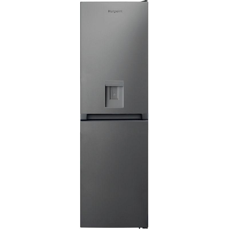 Hotpoint-Fridge-Freezer-Free-standing-HBNF-55181-S-AQUA-UK-1-Silver-2-doors-Frontal