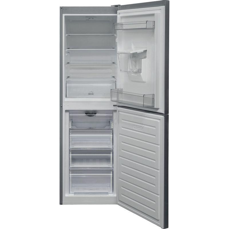 Hotpoint-Fridge-Freezer-Free-standing-HBNF-55181-S-AQUA-UK-1-Silver-2-doors-Frontal-open