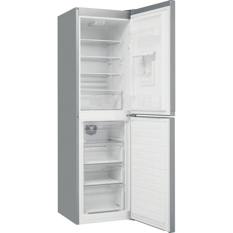 Hotpoint-Fridge-Freezer-Free-standing-HBNF-55181-S-AQUA-UK-1-Silver-2-doors-Perspective-open